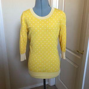 Banana Republic Yellow Polka Dot Sweater